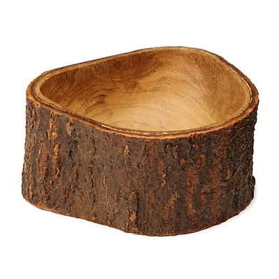 MANGO WOOD BOWL WITH BARK