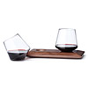 Cupa Glasses & Wood Holder