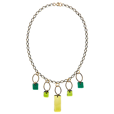 CHANDELIER RECYCLED GLASS NECKLACE