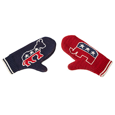 DONKEY AND ELEPHANT MITTENS