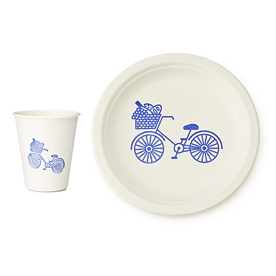 SUSTAINABLE PICNIC PLATES AND CUPS SET