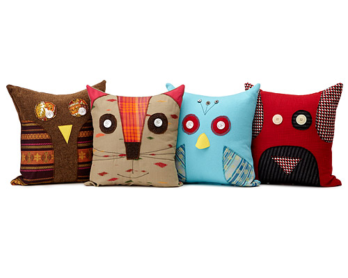 RECYCLED ANIMAL PILLOWS