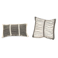 Striped Crochet Pillows
