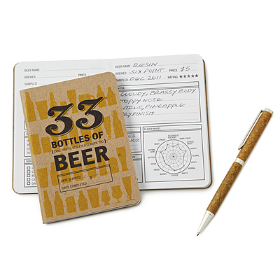 BEER TASTING NOTEBOOK AND PEN SET