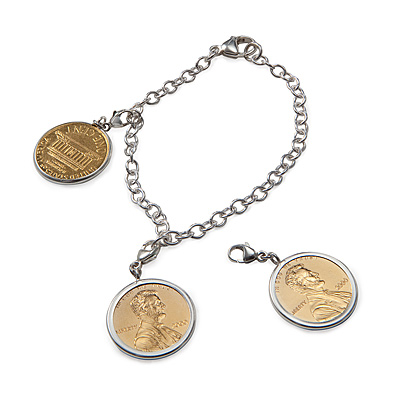 PENNY CHARM BRACELET WITH PERSONALIZED YEAR