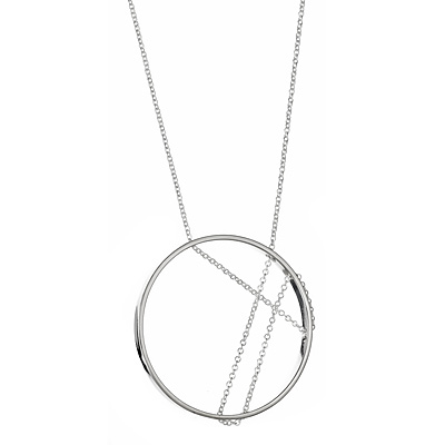 INNER CIRCLE NECKLACE STERLING