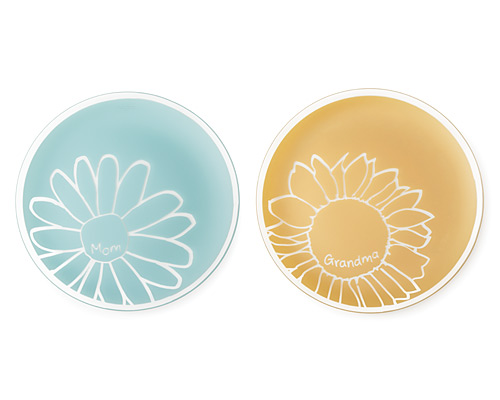 MOM DAISY AND GRANDMA SUNFLOWER PLATTERS