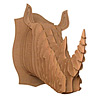 Cardboard Rhino Trophy Head
