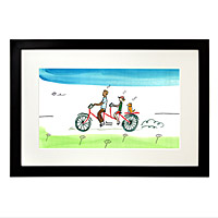 PERSONALIZED FAMILY TANDEM BIKE ART
