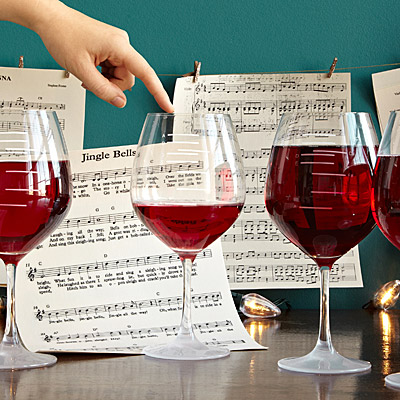 MAJOR SCALE MUSICAL WINE GLASSES - SET OF 2