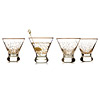 Shaken Martini Glasses - Set of 4