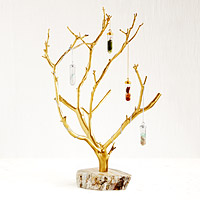 Gilded Branches Jewelry Tree