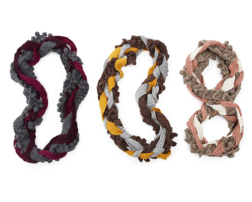 BRAIDED INFINITY SCARVES