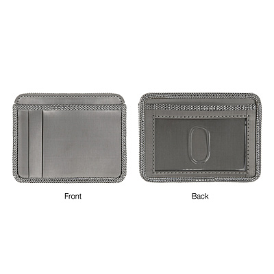 STAINLESS STEEL WALLET WITH ID WINDOW