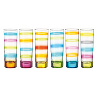 Tie Dye Skinny Glasses - Set of 6
