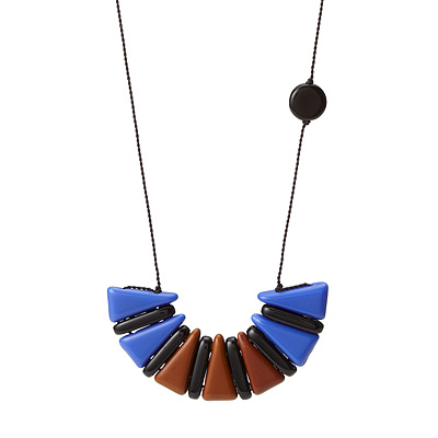 CRESCENT TRIANGLE NECKLACE