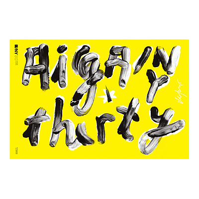 AIGA/NY 30TH ANNIVERSARY POSTER - JAMES VICTORE