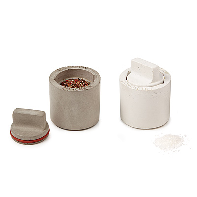 CONCRETE SALT AND PEPPER SHAKERS