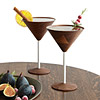 Wooden Martini Glasses - Set of 2