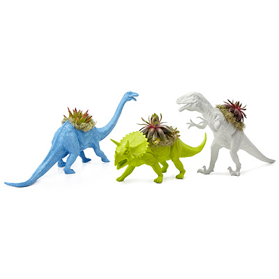 NEON DINOSAUR PLANTERS - SET OF 3
