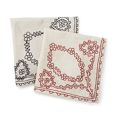 HAND EMBROIDERED NAPKINS - SET OF 4