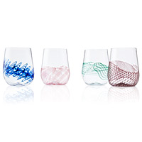 Spiro Stemless Wine Glass Set