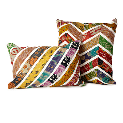 CHEVRON SARI PILLOWS