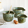 Nesting Stoneware Mixing Bowls - Set of 3