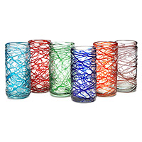 Spider Web Tumblers - Set of 6