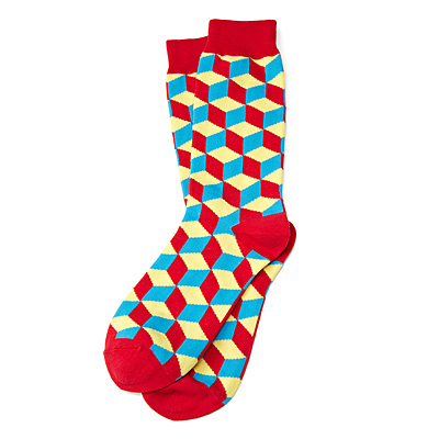 3D EFFECT CUBE SOCKS