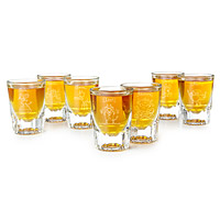 7 DEADLY SINS ETCHED SHOT GLASSES - SET OF 7