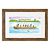 Personalized Family Canoe Art