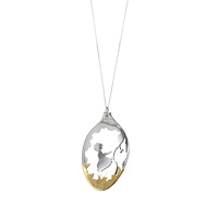 Silver Spoon Diorama Kite Necklace