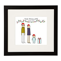 PERSONALIZED HOLIDAY FAMILY PRINT