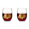 Gold Leaf Stemless Wine Glass Set