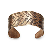 Bronze Feather Cuff
