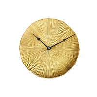 Gold Leaf Wall Clock