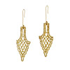 Castillo Gold Dipped Lace Earrings
