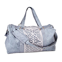 Reverse Applique Stonewashed Duffle