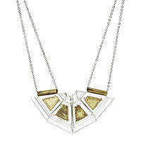 Cleopatra Melted Brass Bib Necklace