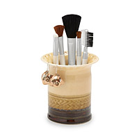 Porcelain Earring and Makeup Brush Holder