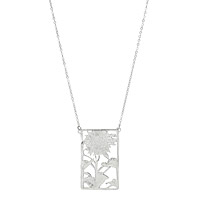Silver Sunflower View Necklace