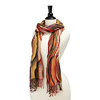 Hand Loomed Curved Stripe Scarf