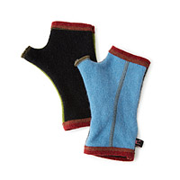 Upcycled Cashmere Mismatched Handwarmers