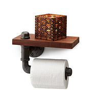Reclaimed Walnut Toilet Paper Holder