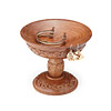 Hand Carved Wooden Pedestal Jewelry Stand