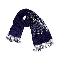 GALAXY STAR CHART SCARF