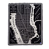 New York City Map Throw
