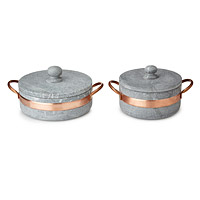 Soapstone Pot with Copper Handle