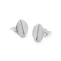 Silver Leaf Post Earrings